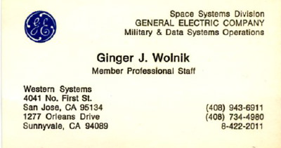 Ginger wolniks business cards general electric colourmoves